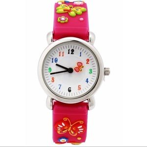 Other - NWT Kid's Girl butterfly waterproof watch
